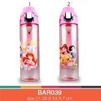 Botol minum anak bening 650 ml barbie BAR039-1