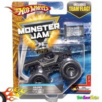 Hotwheels MONSTER JAM Team Flag- Soldier Fortune Hot Wheels Ori Mattel