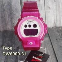 Jam Tangan Wanita Casio Baby G Hello Kitty Pink transparant anak anak