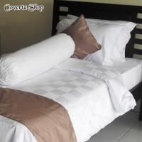 Bed Cover Set Hotel - Polos Kotak - Single 100 / 120x200x30cm