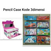 Jual kotak pensil kode 3D karakter / pencil Case kode 3 dimensi hologram Murah