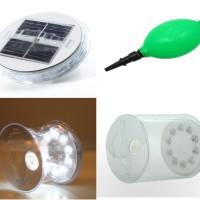 LED Solar Lantern transparan.