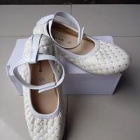 Jual sepatu balet anak karenina putih ada tali bisa lepas size 31 - 35 Murah