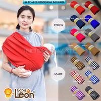NEW Ultimate Gendongan Bayi Kaos Polos Geos Baby Leon Praktis Simple