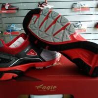 Jual Sepatu Sport Sepatu Lari Eagle Supersonic (Grey/Red) Termurah Murah