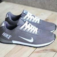 Sepatu Import NIke Jooging Abu Lits Putih Termurah Kw Super