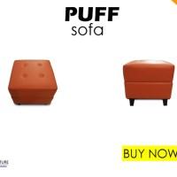 Puff Bulat / Kotak Ottomans 50x50cm - Sofa Single Kulit
