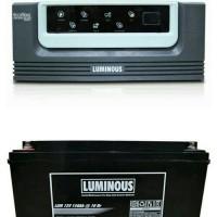 Paket Inverter Eco Volt 900VA 12V + Baterai Luminous VRLA 150ah