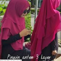 Jual Khimar Syari Ceruty 3 Lapis / Pet Antem 3 Layer / Hijab Instan Murah