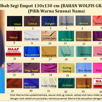 jilbab syari wolfis/jilbab segiempat wolvis 130x130/khimar wolfis