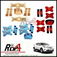 Paket Bantal Mobil - Sarung Seatbelt 9 PCS Toyota CHR