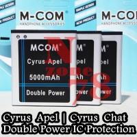 Baterai Cyrus Chat T2017 Cyrus Apel Mcom Double Power Protection