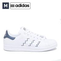 harga Sepatu Wanita Adidas Stan Smith White Navy Original Tokopedia.com