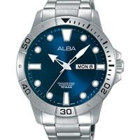 Alba Men AT2041X1 Quartz Blue Dial| Jam Tangan Pria AT2041 Stainless