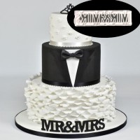 8822- Mr&Mrs Weding Fondant Molds Cutters Moulds Cake Decoration