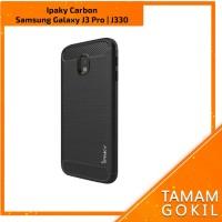 Case Ipaky Carbon Fiber Samsung Galaxy J3 Pro / J330 Soft Series