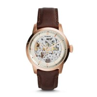 FOSSIL TOWNSMAN AUTOMATIC DARK BROWN LEATHER WATCH // ME3078