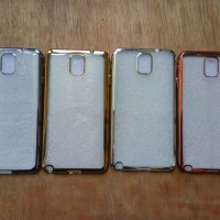 Softcase Metal Chrome Samsung Note 4 Silicone Chrome Samsung T2909