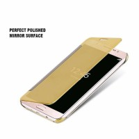 CASE FLIP BACK COVER SAMSUNG GALAXY J7 PRO, J 7 CASING MIRROR SVIEW
