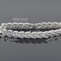 Gelang rantai putih padi permata kristal sirkon PZG15005