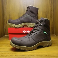 Sepatu Boots Safety Kickers Delta Tactiacal Pria Gunung