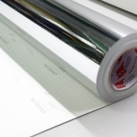 Oracal 351/352 - 001 Chrome Mirror Polyester Film Meteran Lebar 126 cm
