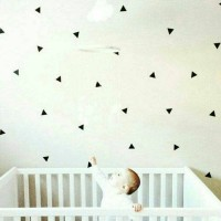 Wall sticker triangle / sticker segitiga sama sisi