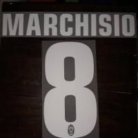 Nameset Juventus 2012/14  #8Marchisi White Original
