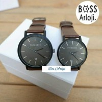 Jam Tangan Couple The Horse Leather Dark Brown