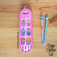 Tempat Pensil/Pencil Case Cup Cake 02 (pink)