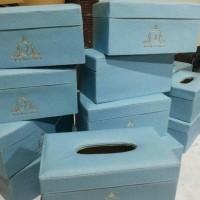Jual Hampers box tissue / kotak tisu murah lapis kulit / vinyl Murah