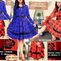 flare dress midi baju gaun pesta wanita minidress elegan organza dres