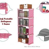 Portable Rack non Woven/ Rak portable serbaguna 4 susun