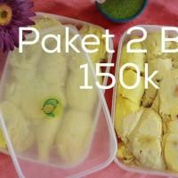 Jual paket 2 box durian kupas Murah