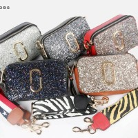 Tas MARC JACOBS Snapshot Bag Double Take Small Glitter Material  5029