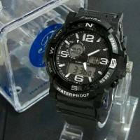 Jam Tangan Pria Sport Fujitec Original(N) Double Time Black