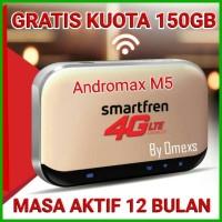 Jual MIFI 4G ROUTER MODEM WIFI 4G SMARTFREN 4G ANDROMAX M5 FREE KUOTA 150GB Murah
