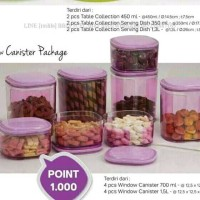 Tupperware window canister
