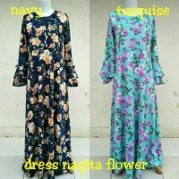 gamis dress nagita flower/baju wanita muslimah hamil menyusui/longdres