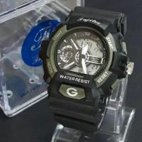 Jam Tangan Sport Pria Fujitec Original Double Time Black List /Army