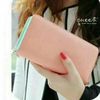 Dompet Panjang Wanita Import Murah Untuk Ke Pesta / Kantor - Pink