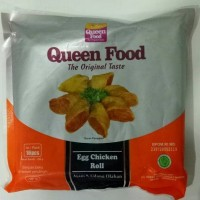 queen food egg chicken roll 16 pcs (ayam dan udang olahan)
