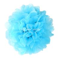 Hiasan Gantung / Pompom 20 Cm / Pompom Tissue / Pompom Biru / Pompom