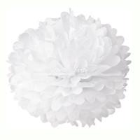 Hiasan Gantung / Pompom 20 Cm / Pompom Tissue / Pompom Putih / Pompom