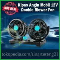Kipas Angin Mobil DC Lighter 12V Pick Up Colok Rokok Fan Double Blower