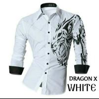 MAN CLOTHING DRAGON MAROON / KEMEJA COWOK KEREN MOTIF NAGA BEST SELLER