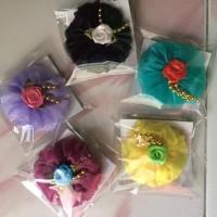 Jual Bros Bunga Cantik Souvenir Pernikahan free kemas & Nama d Kartu Ucapan Murah