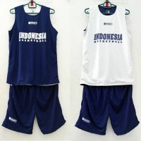 Jual Training Jersey basket / jersey latihan Indonesia Basketball Murah