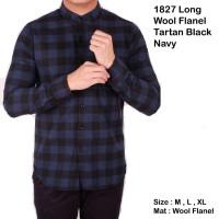 baju kemeja pria lengan panjang flanel kotak / kemeja flanel panjang