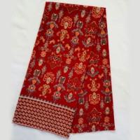 KBS024 Kain Batik Meteran Semi Sutra Bawahan Kebaya Modern Kutubaru